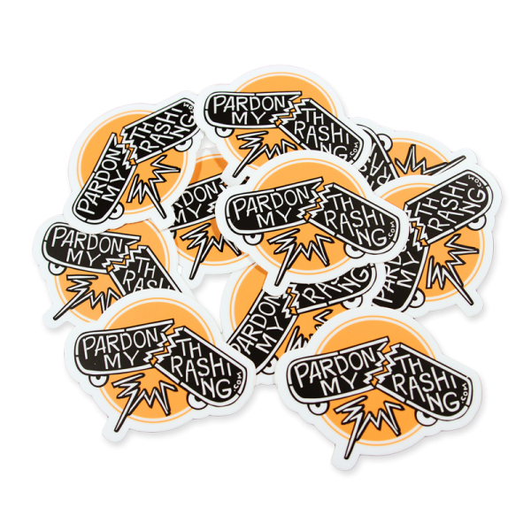 Pardon My Thrashing Sticker Pile
