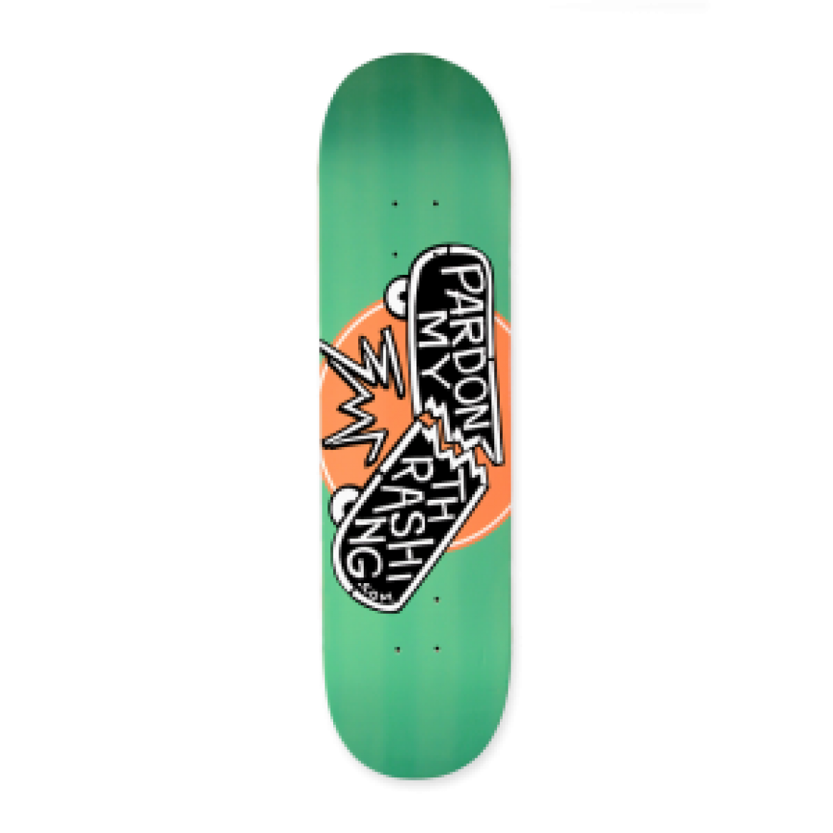 Pardon My Thrashing Logo Deck